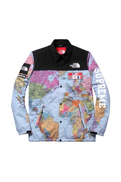 Supreme North Face World Map Jacket