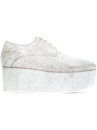 women shoes lace-up shoes lace leather grey