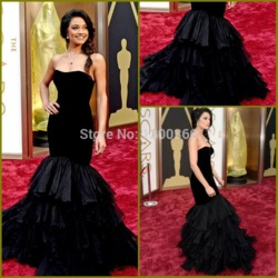 Online shop rachel smith black mermaid celebrity prom gown oscars 2014 red carpet dress oscar dress sexy long evening party gown