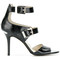 Michael michael kors - adriana strappy sandals - women - leather - 9, black, leather