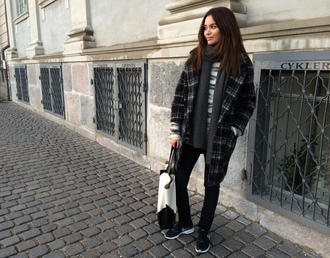 by funda blogger coat sweater scarf bag shoes