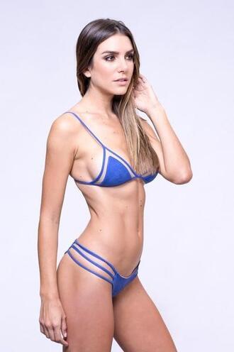 top bikini top blue bralette dbrie reversible triangle bikiniluxe