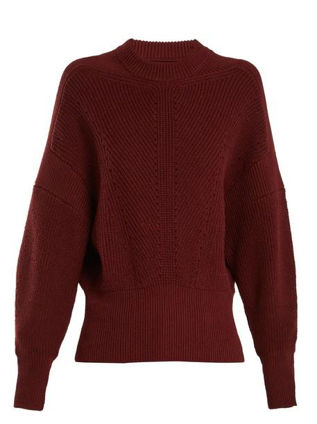 sweater cotton knit burgundy