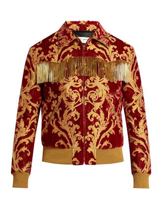 jacket jacquard velvet