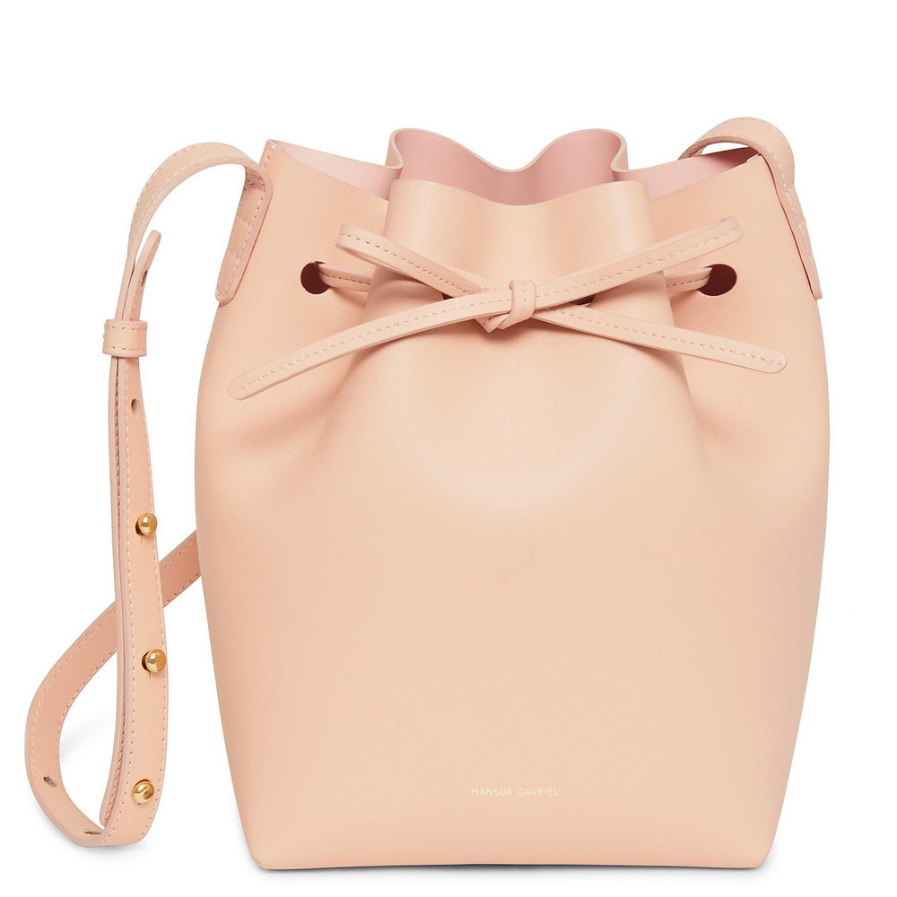 Mansur Gavriel Calf Mini Bucket Bag - Rosa