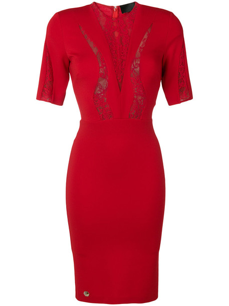 dress women spandex lace red
