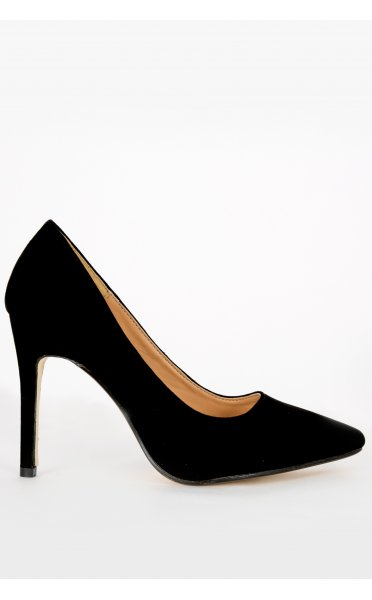 Lanica Black Suede Pointed Toe Court Shoes - from The Fashion Bible UK
