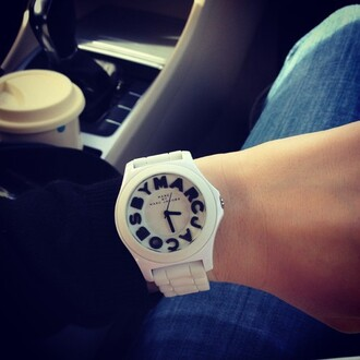 jewels marc jacobs time montre black and white