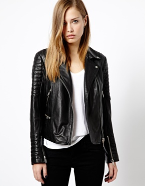 Whistles | Whistles Ziggy Leather Biker Jacket at ASOS