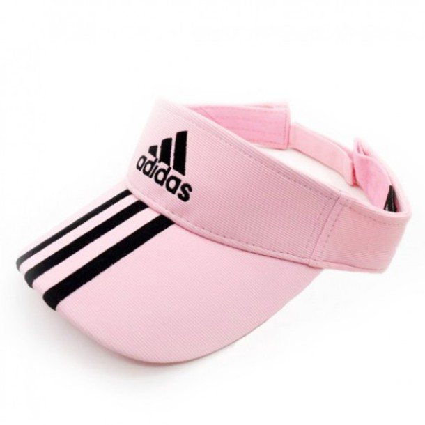 ce9412f3b11 hat cute summer adidas pink tennis cap cap spring sporty cool boogzel visor  white trendy tennis
