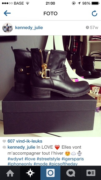 black boots ankleboots shoes