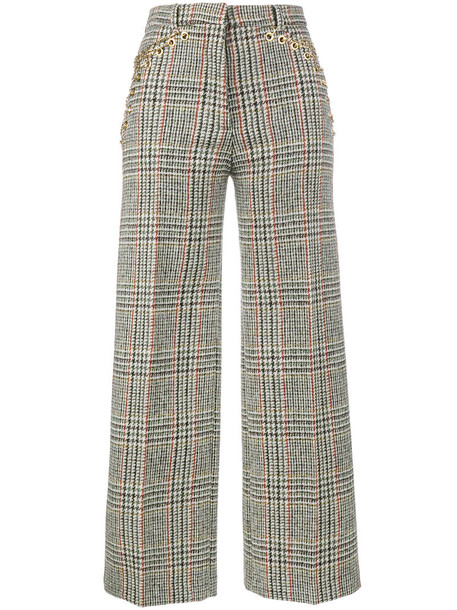 Y / Project high women embellished nude wool pants