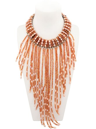 beaded necklace jewels