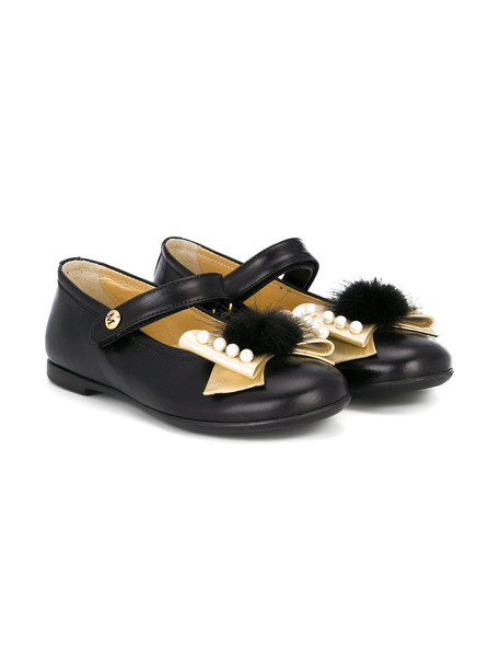 Missouri Kids bow 23 leather black shoes