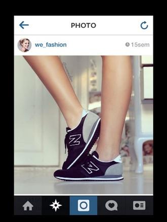 shoes chaussures new balance parfaite noire grise