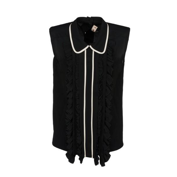 MARNI blouse sleeveless ruffle top