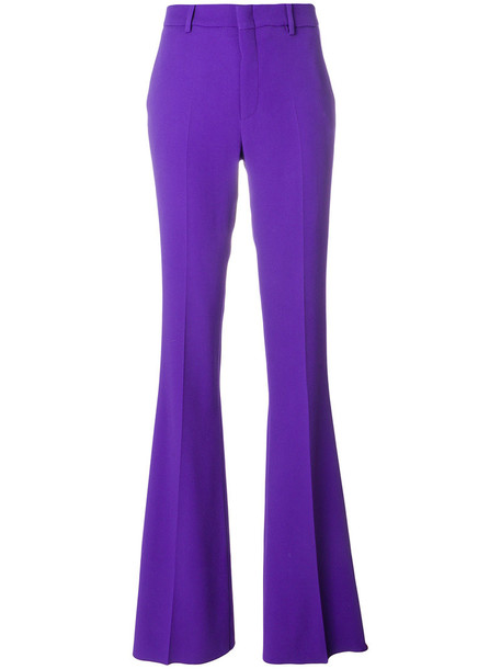 gucci high women spandex silk purple pink pants