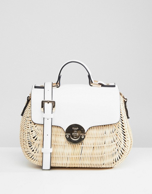 Dune Structured Cross Body Bag in Straw at asos.com