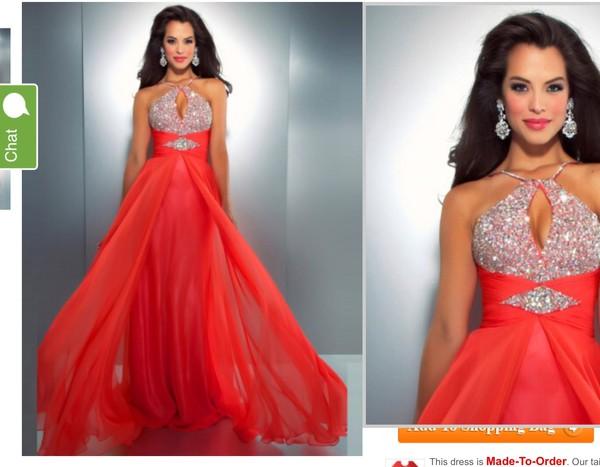 dress prom dress red
