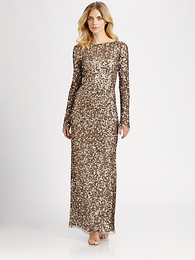 Aidan Mattox - Sequined Gown - Saks.com