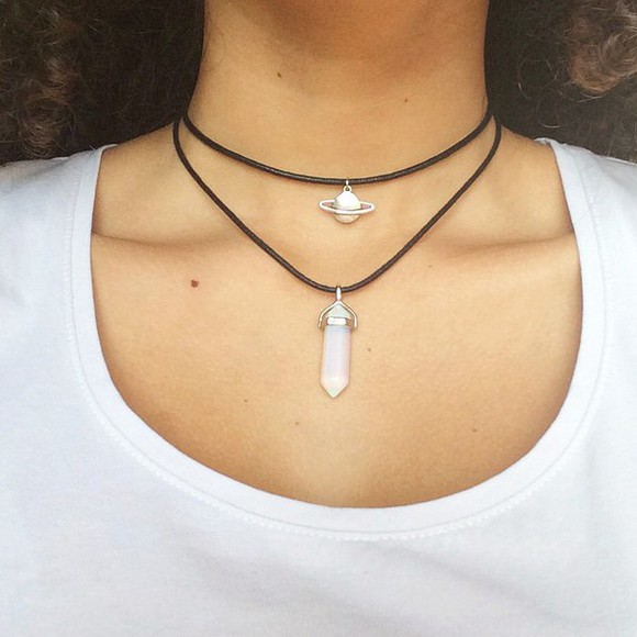 jewels quartz cute necklace choker necklace