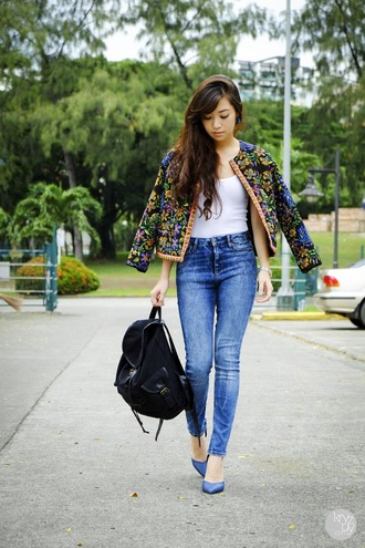 kryzuy jacket tank top jeans shoes bag jewels