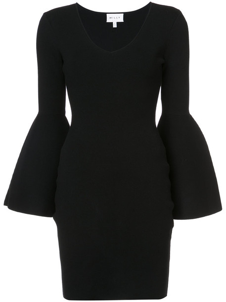 MILLY dress women spandex black