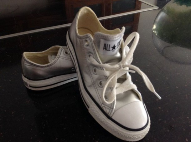 a56f91a9f789 shoes silver metallic converse all stars all star canvas chuck taylor all  stars chuck taylor all