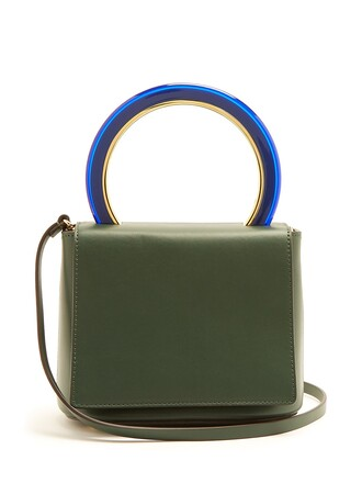 bag crossbody bag leather dark green