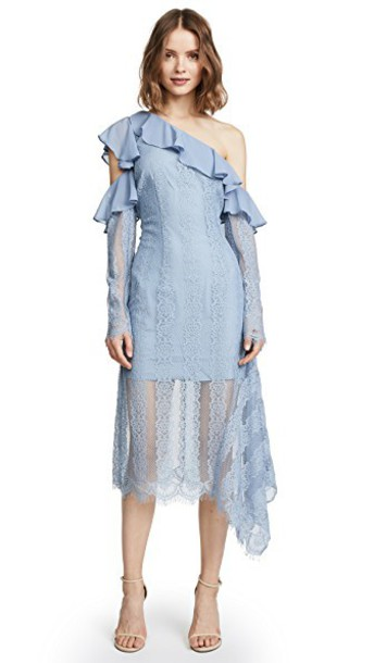 Keepsake dress lace dress lace blue