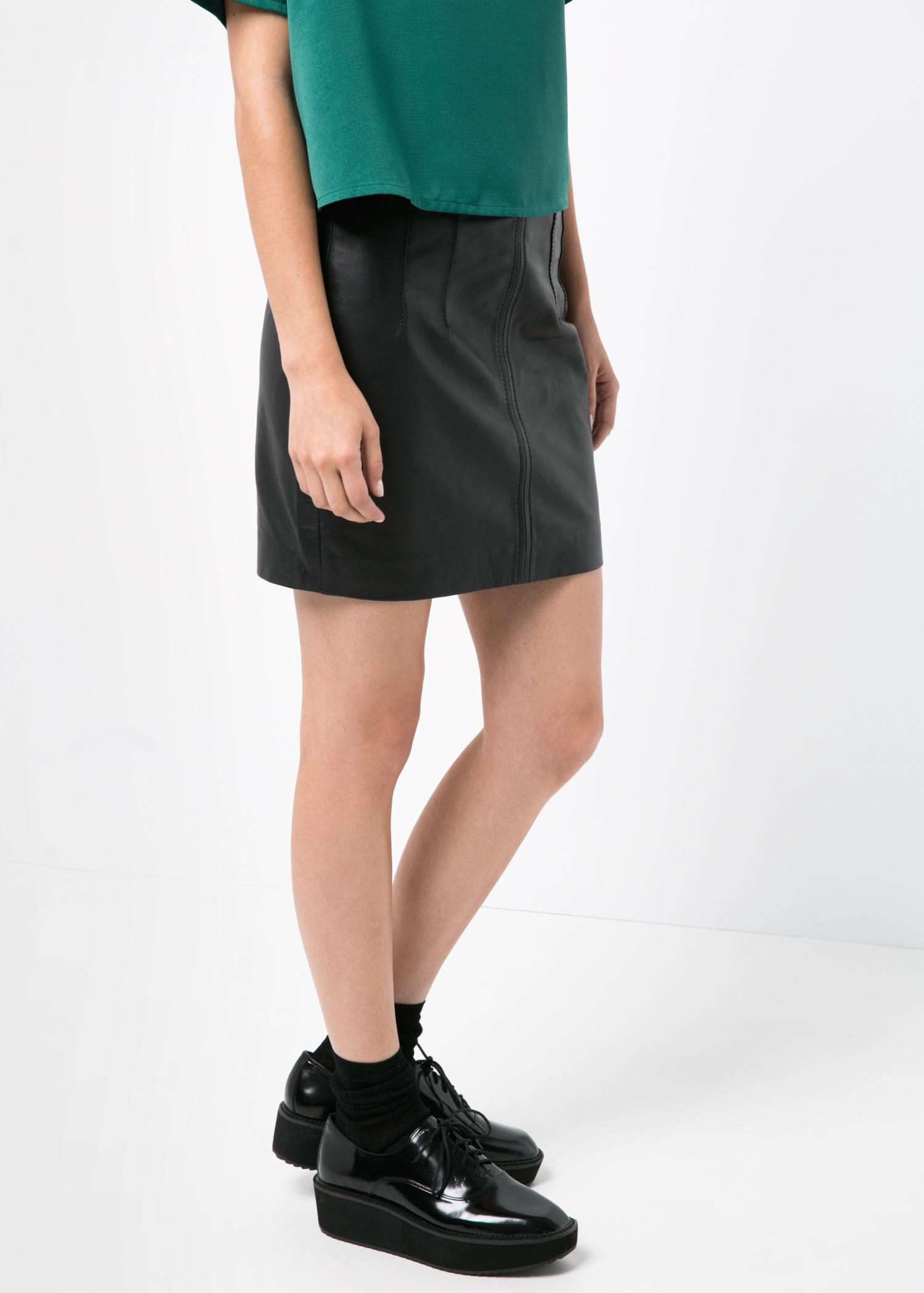 Leather miniskirt - Skirts for Women   MANGO