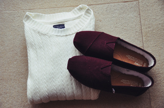 sweater toms white sweater