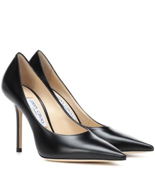 Jimmy Choo Ava 100 leather pumps in black