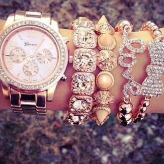 jewels golden crystals