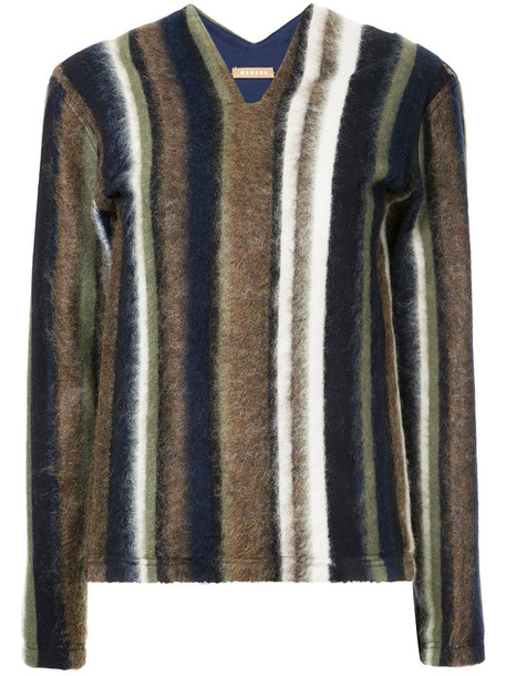 Nehera pullover women spandex mohair wool brown sweater