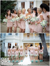 dress,peach,bridesmaid,blush