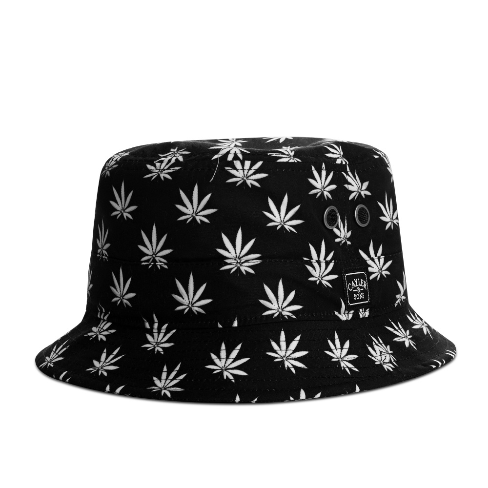 269b92dd813 CAYLER   SONS Budz  n Stripes Bucket Hat Black White