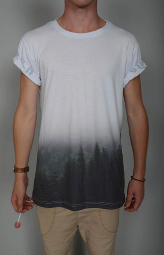 shirt ombre ombre shirt printed shirt print t-shirt boys fashion boy shirt mens t-shirt hipster menswear menswear