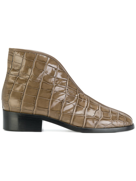 Lemaire women leather grey shoes