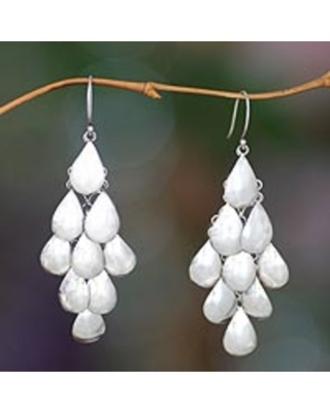 jewels waterfall earrings dangly silver