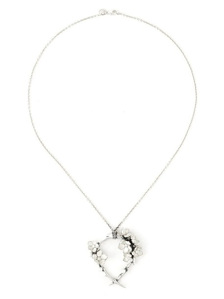 SHAUN LEANE cherry women necklace diamond necklace silver grey metallic jewels