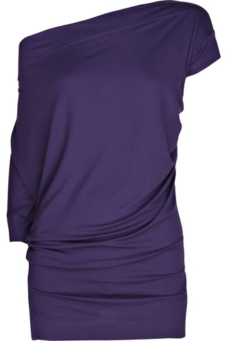 blouse top shirt purple top off the shoulder asymmetrical top loose long shirt short and long sleeve
