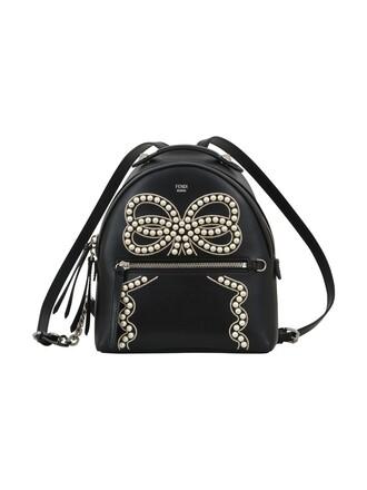 bow mini backpack black bag