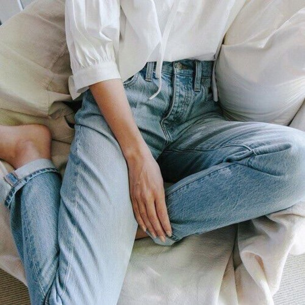 jeans vintage jeans blue jeans loose jeans mom jeans high waisted jeans kendall jenner
