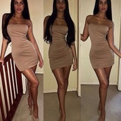 dress,nudes,brown,short dress,cute dress,nude,nude dress,strapless,strapless dress,bodycon,bodycon dress,mini dress,party dress,sexy party dresses,sexy,sexy dress,party outfits,sexy outfit,summer dress,summer outfits,classy dress,elegant dress,cocktail dress,girly dress,date outfit,birthday dress,clubwear,club dress,homecoming dress,homecoming,wedding guest,wedding clothes,engagement party dress,prom dress,short prom dress,graduation dress