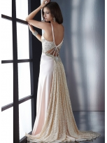 Buy Sexy A-line Straps Empire Waist Elastic Woven Satin Prom Dress  under 200-SinoAnt.com
