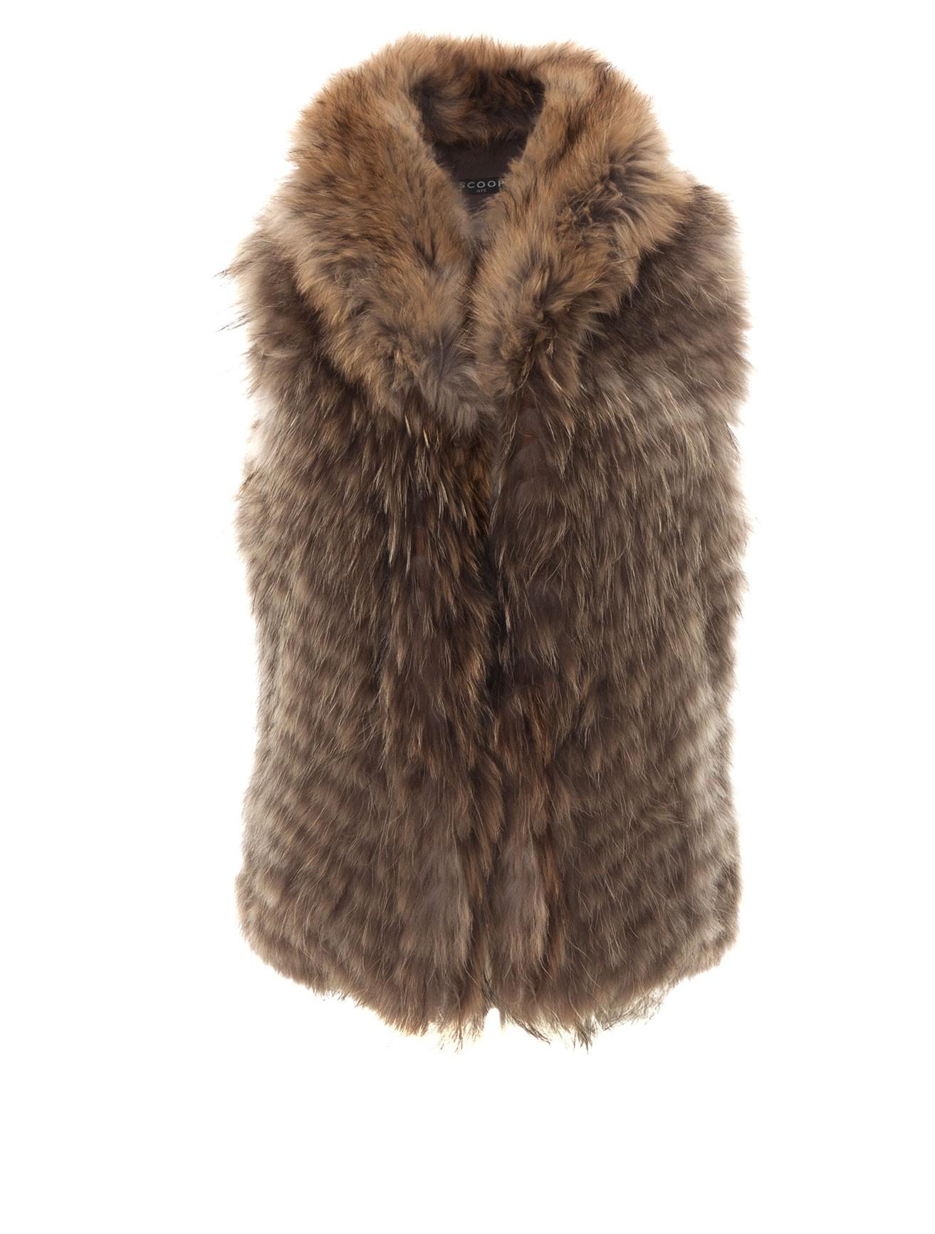 Scoop Brown Raccoon Fur Vest