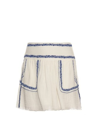 skirt embroidered cotton white