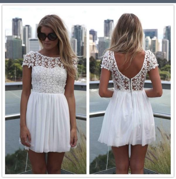 white dress cute dress