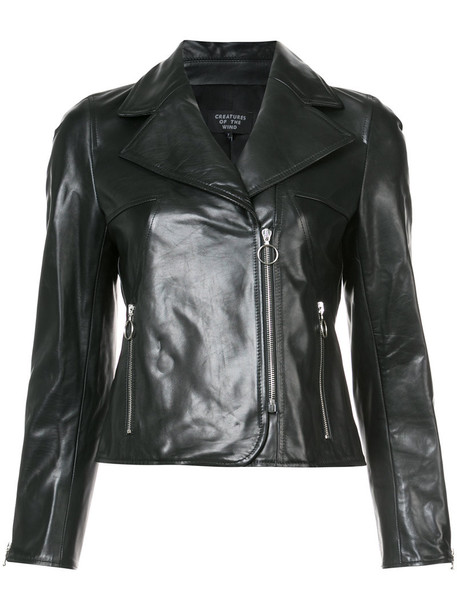 Creatures of the Wind jacket biker jacket women classic leather black